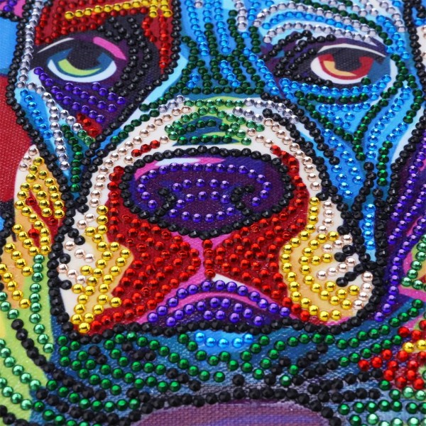 Abstract Animals Colorful Dog – Special Diamond Painting